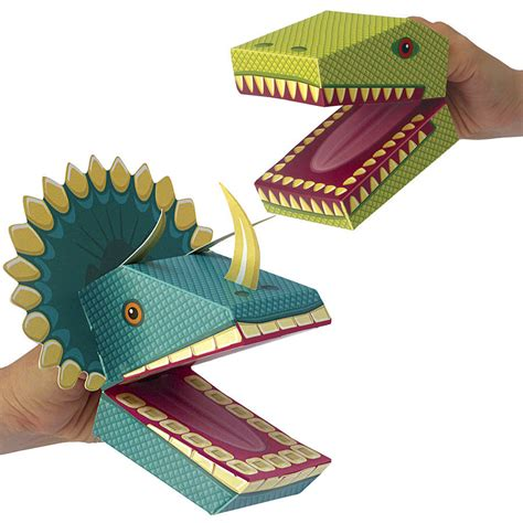 dinosaur crafts for to make create your own dinosaur puppets kit by clockwork soldier