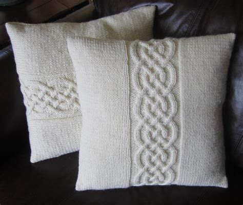 how to knit a pillow celtic knot pillow cover by ladyship craftsy