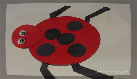 ladybug crafts for ladybug craft simple home blessings