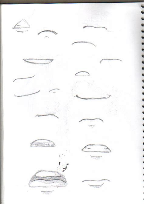 how to draw mouths how to draw sad