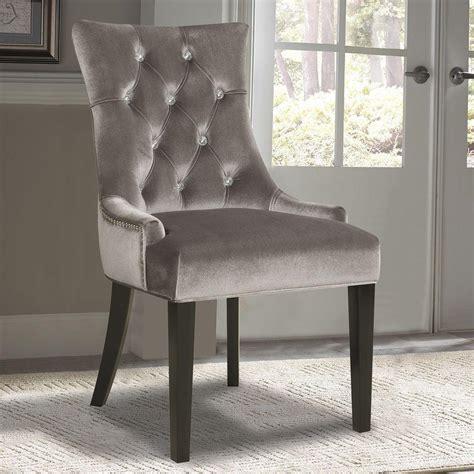 home chairs pulaski furniture chrome velvet dining chair ds 2514 900