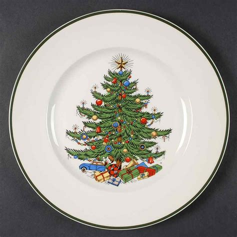 tree dinner plates cuthbertson tree thin green band dinner plate ebay