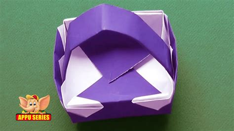 origami learn origami learn to make a basket doovi