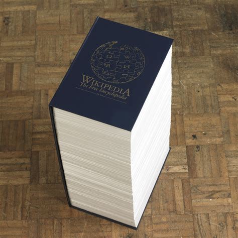 Encyclopedia As A Printed Book