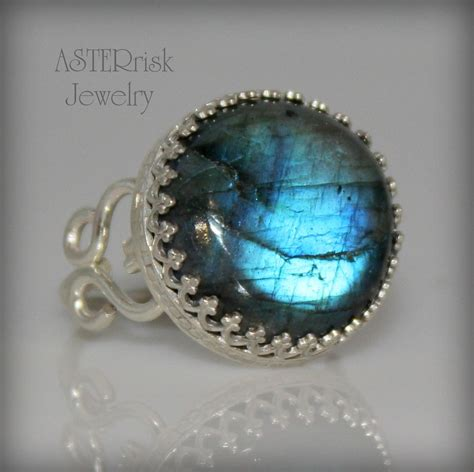 custom make jewelry handmade sterling silver and labradorite ring by asterrisk