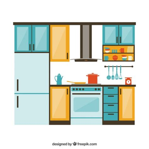 Kitchen Furniture Images kitchen furniture vector free download