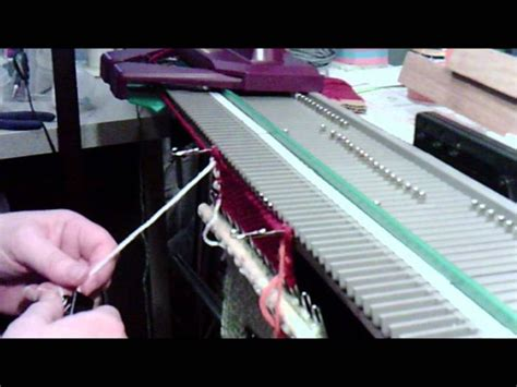 how to cast on a knitting machine 25 best ideas about knitting machine patterns on
