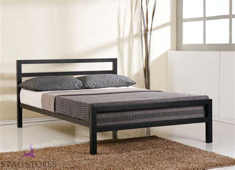 steel framed beds city block 3ft single 4ft6 5ft king black white