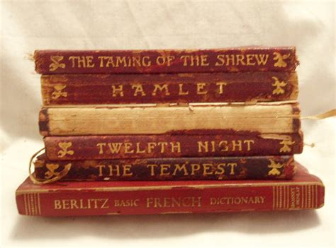 Vintage Shakespeare Books Miniature Books The Temple By