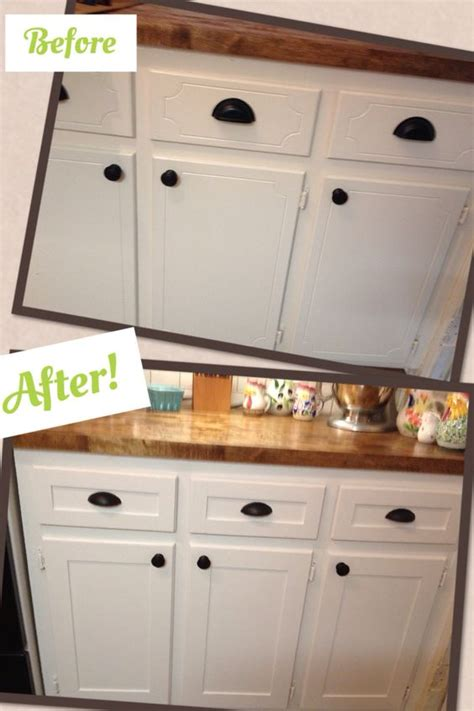 refacing kitchen cabinets before and after kitchen cabinet refacing project diy shaker trim done