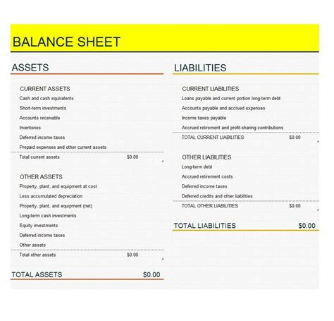 38 free balance sheet templates amp examples template lab