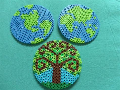 perler circle designs earth day the tree circle board crafts to try