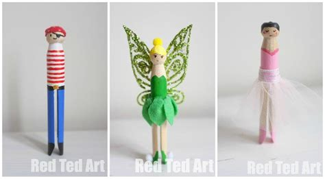 dolly peg crafts tinkerbell clothes pins dolls