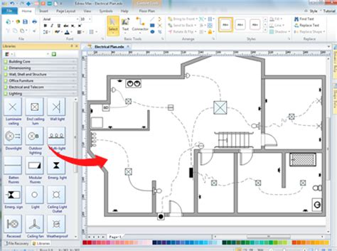 electrical floor plan software home wiring plan software wiring plans easily