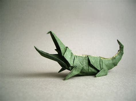 crocodile origami iguana fold these 28 awesome origami lizards
