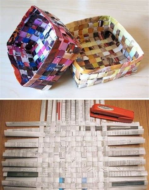crafts with newspaper for best 20 recycled magazine crafts ideas on