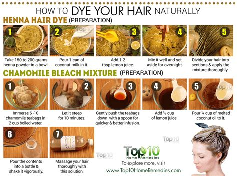 how to hair how to dye your hair naturally top 10 home remedies