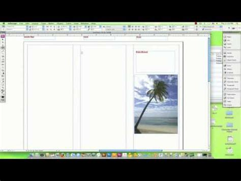 how to a travel brochure on a computer