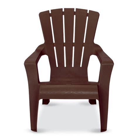 Plastic Adirondack Chairs Lowes by Shop Us Leisure Cappuccino Resin Stackable Adirondack