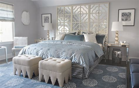 light blue grey bedroom mirror headboard contemporary bedroom mabley handler