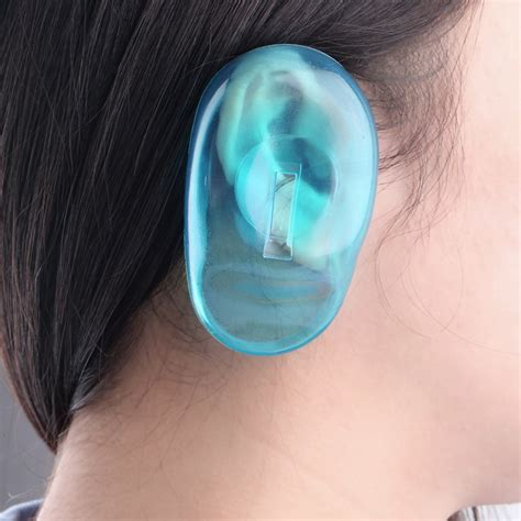 where to buy silicone 1pair 2pcs high quality clear silicone ear cover hair dye