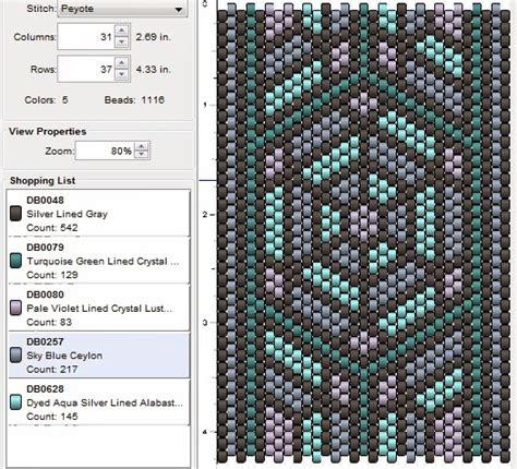 peyote beading patterns imaginesque beading peyote stitch pattern 15