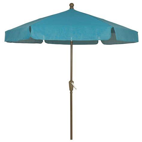 5 ft patio umbrella fiberbuilt umbrellas 7 5 ft patio umbrella in teal 7gcrcb
