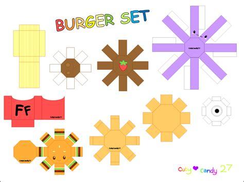 burger origami burger meal papercraft by cutycandy27 on deviantart