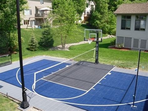backyard sport courts triyae asphalt basketball court in backyard