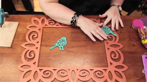 picture frame craft projects how to apply wood appliques to a wood picture frame diy