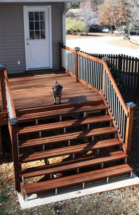 Garage Design Tool Garage deck stairs step by step extreme how to