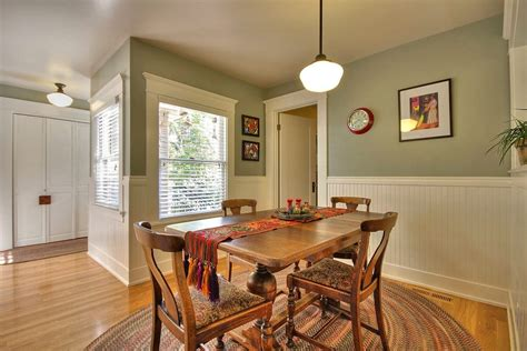 dining room wainscoting ideas installing beadboard wainscoting dining room craftsman
