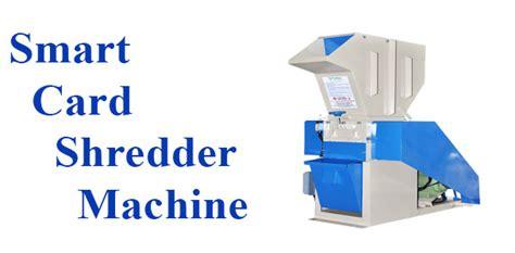 smart card machine credit card shredder card shredder