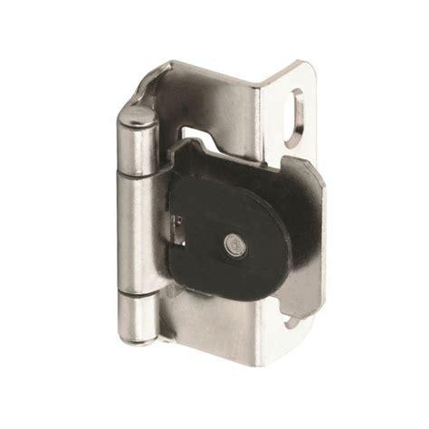 demountable cabinet hinges amerock single demountable 1 2 quot overlay hinge nickel pair