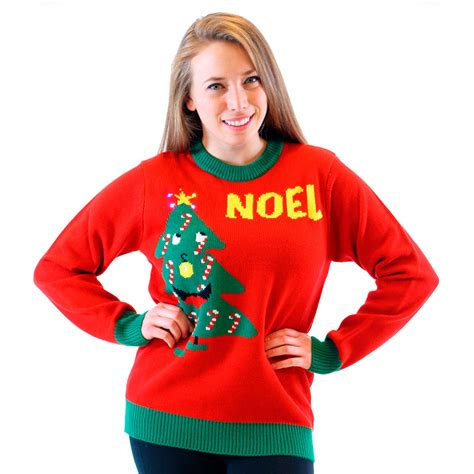 Sweaters With Lights And by Light Up Noel Sweater Uglysweatercompany