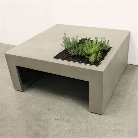concrete planter boxes concrete coffee table with built in planter box so that