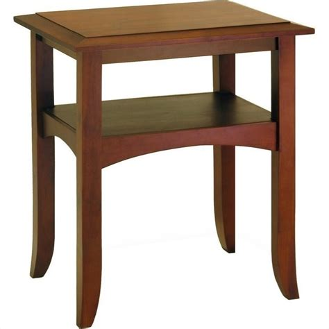 end tables winsome pine wood antique walnut end table ebay