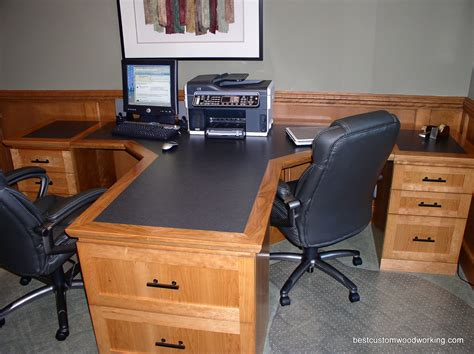 two person desk home office custom cherry partner desk two person custom made