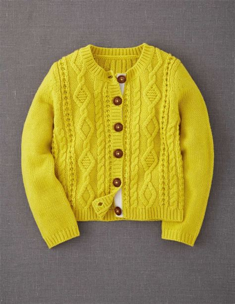 yellow knit cardigan cosy cable cardigan by mini boden sweaters