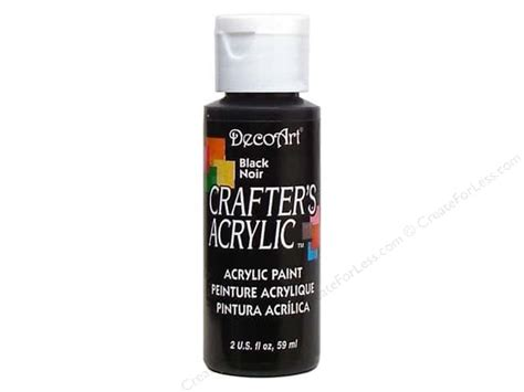 Crafter S Acrylic Paint By Decoart 2 Oz Black