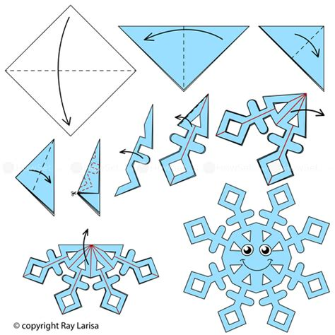 snow origami snowflake animated origami how to