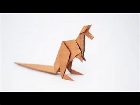origami kangaroo easy origami animal how to fold an origami kangaroo step by