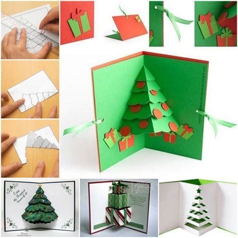 how to make 3d greeting card how to diy 3d pop up tree card fab diy