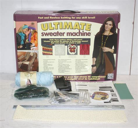 ultimate knitting machine bond america ultimate sweater machine knitting appliance