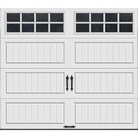 home depot overhead doors clopay value series 8 ft x 7 ft non insulated white