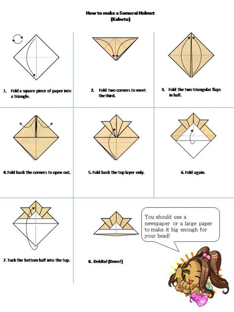 how to make an origami samurai helmet nao hiro