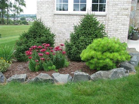 garden bed rocks rock garden with decorative flower bed landscaping