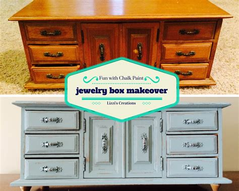 chalk paint jewelry box lizzi s creations with chalk paint jewelry box makeover