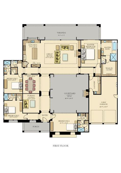 U Shaped Houses best 20 courtyard house plans ideas on pinterest