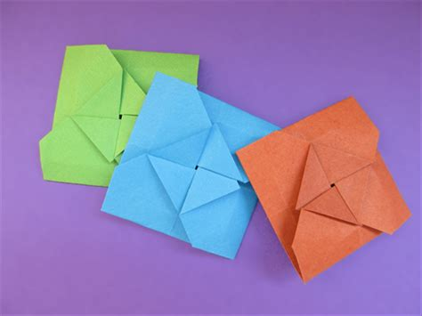 folded square origami paper how to fold a square origami envelope